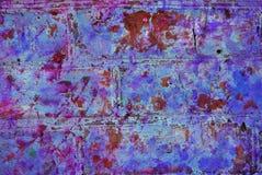 Grafik der gemischten Medien, bunte künstlerische gemalte Schicht der Zusammenfassung in der rosa Farbpalette mit Blau, Purpur sp stockbild