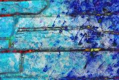 Grafik der gemischten Medien, bunte künstlerische gemalte Schicht der Zusammenfassung in der rosa Farbpalette mit Blauem, Rot spr stockfotos