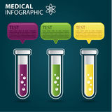 Grafik der medizinischen Informationen Stockfoto