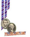 Grafik der Präsidenten Day Border Stockfoto