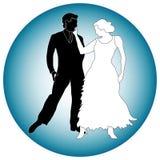Grafik der Tanzpartner Stockbilder
