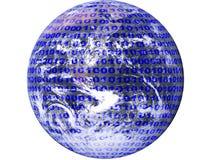 Grafik, die binäre Daten bildlich darstellt lizenzfreie stockbilder