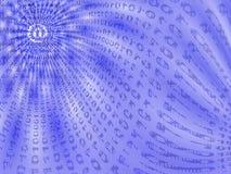 Grafik, die binären Datenfluss bildlich darstellt stockbilder