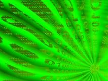 Grafik, die binären Datenfluss bildlich darstellt Lizenzfreies Stockbild