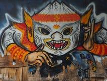 Grafik, die thailändische Khon-Maske kennzeichnet lizenzfreies stockfoto