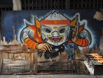 Grafik, die thailändische Khon-Maske kennzeichnet stockfotografie