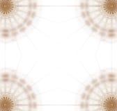 Grafik- Platte mit 4 Ecken Gold Stockfotos