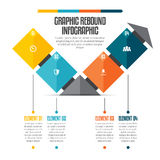 Grafik-Rückstoß Infographic Stockfoto