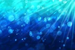 Grafik von blauem Ozean oder Pool mit Luftblase und Raum für schreiben Benennung lizenzfreie stockfotos