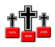 Grafik von drei Kreuzen stockbild