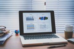 Grafika biznesowi pieniężni dane obrazy stock