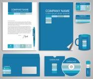 grafika biznesowy korporacyjnej tożsamości szablonu wektor Obrazy Royalty Free