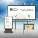grafika biznesowy korporacyjnej tożsamości szablonu wektor Billboard, znak, lekki pudełko Fotografia Royalty Free