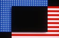 Grafika Flaga amerykańskiej gwiazdy i lampasy Zdjęcia Stock