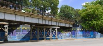 Grafika na linii kolejowej strukturze w Memphis, TN Obrazy Stock