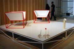 Grafika przy 6th Moskwa Biennale dzisiejsza ustawa Fotografia Stock