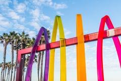 Grafika przy wejściem molo plac w imperiał plaży Obrazy Stock