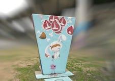Grafika w sztuka parku, Głęboki Ellum, Dallas, Teksas Obrazy Royalty Free