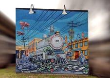 Grafika w sztuka parku, Głęboki Ellum, Dallas, Teksas Zdjęcie Royalty Free