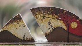 Grafika w sztuka parku, Głęboki Ellum, Dallas, Teksas Obrazy Stock