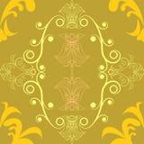 Grafikabstraktions-Kreisring des Musters gelber Stockbild