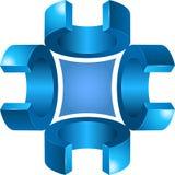 Grafikdesign des Zeichens 3d oder des Symbols Stockfoto