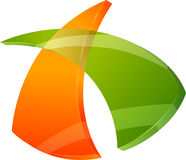 Grafikdesign des Zeichens 3d oder des Symbols Stockfotos