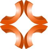 Grafikdesign des Zeichens 3d oder des Symbols Stockbilder