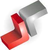 Grafikdesign des Zeichens 3d oder des Symbols Lizenzfreies Stockbild