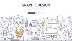 Grafikdesign-Gekritzel-Konzept lizenzfreie abbildung