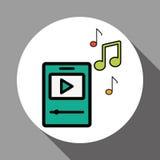 Grafikdesign von Musik, Vektorillustration Stockbilder