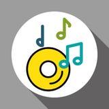 Grafikdesign von Musik, Vektorillustration Stockfotos