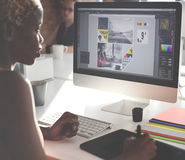 Grafikdesigner-Creativity Editor Ideas-Designer Concept Stockfotos