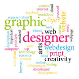 Grafikdesignermarken Stockfoto
