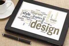 Grafikdesignwortwolke Stockbilder