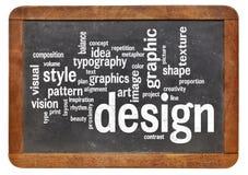 Grafikdesignwortwolke Stockfotos