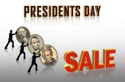 Grafiken der Präsidenten Day Sale Stockfoto