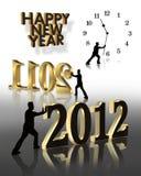 Grafiken des neuen Jahr-2012 Stockbilder