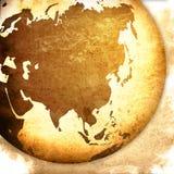 grafiki Asia mapy rocznik Zdjęcia Stock