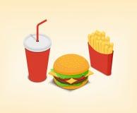 grafiki bąbla psa używać fasta food gradientów hamburgeru gorące warstwy ustalony kanapka żadny tekst używać Fotografia Stock