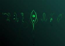grafiki rabatowa kwiecista zieleń royalty ilustracja