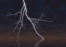 Grafisch übertragener Blitz Überwasser Lizenzfreie Stockfotografie