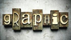 Grafisch concept met uitstekend letterzetsel Royalty-vrije Stock Afbeelding