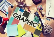 Grafisch Creatief Ontwerp Visueel Art Concept Stock Foto's