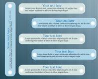 Grafisch de bannersmalplaatje van het ontwerp schoon aantal of websitelay-out 6 stappen Royalty-vrije Stock Fotografie