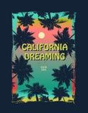Grafisch de surfert-stuk van Californië vector illustratie
