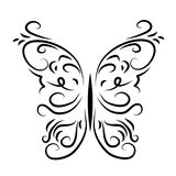 Grafisch gevormde decoratieve vlinder Royalty-vrije Stock Foto