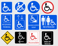 Grafisch handicapsymbool - vectorillustratie Royalty-vrije Stock Afbeelding
