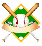 Grafisch honkbal stock illustratie