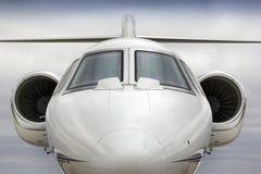 Grafisch Hoofd op Perspecive van Zaken Jet Aircraft Stock Fotografie